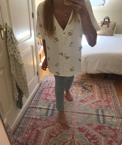 Camisa Flora Blanco